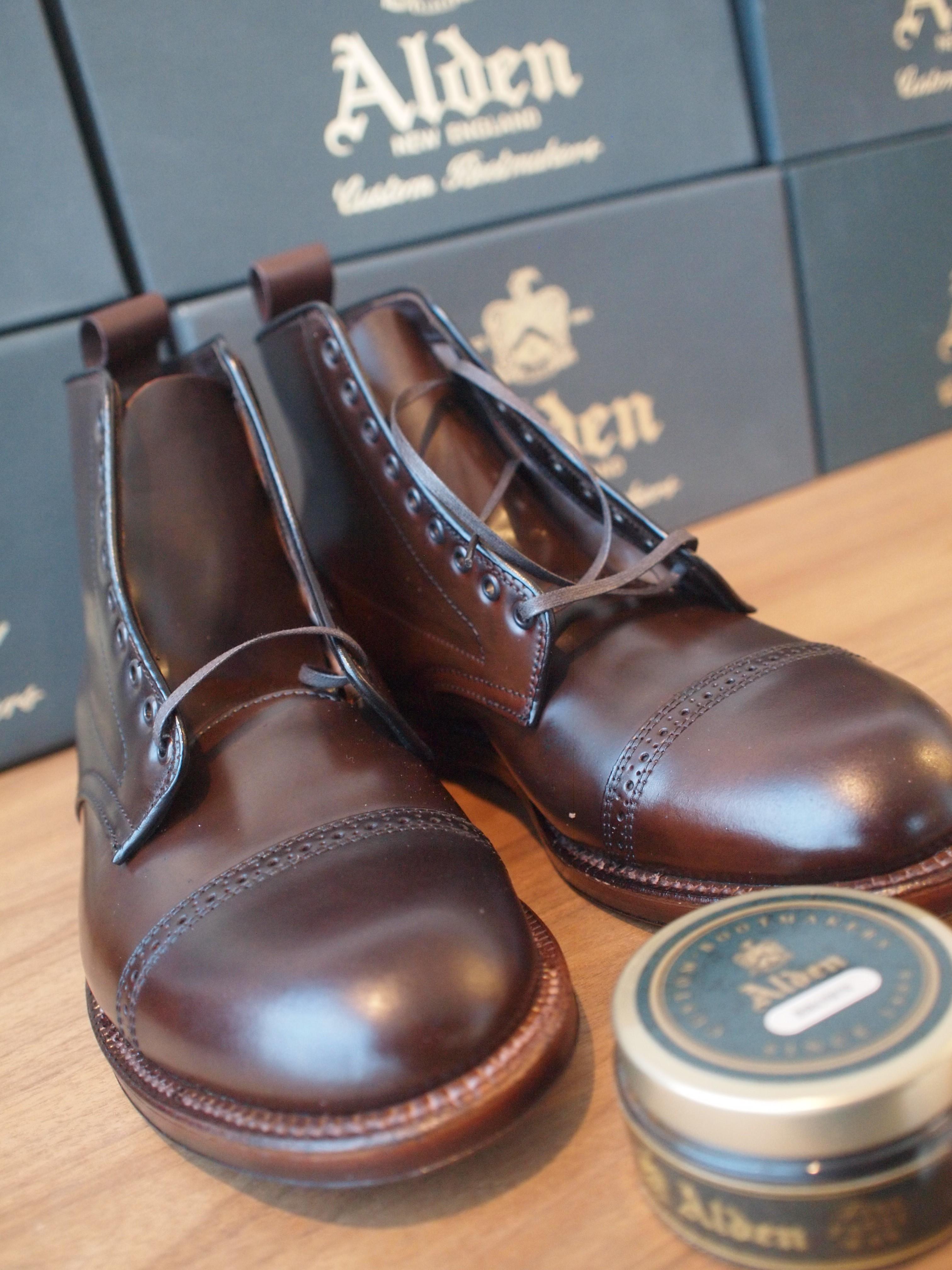 Alden cigar jumper boot