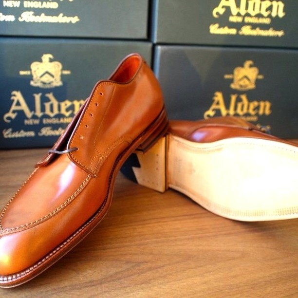 Alden Whiskey Cordovan V-Tip Leather Soul MTO
