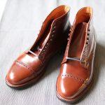 ALDEN Perforated cap toe boots