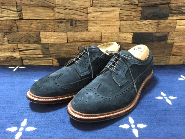 Alden Long Wing Navy Suede