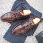 ALDEN Cigar Semi Brogue Cap Toe Balmoral