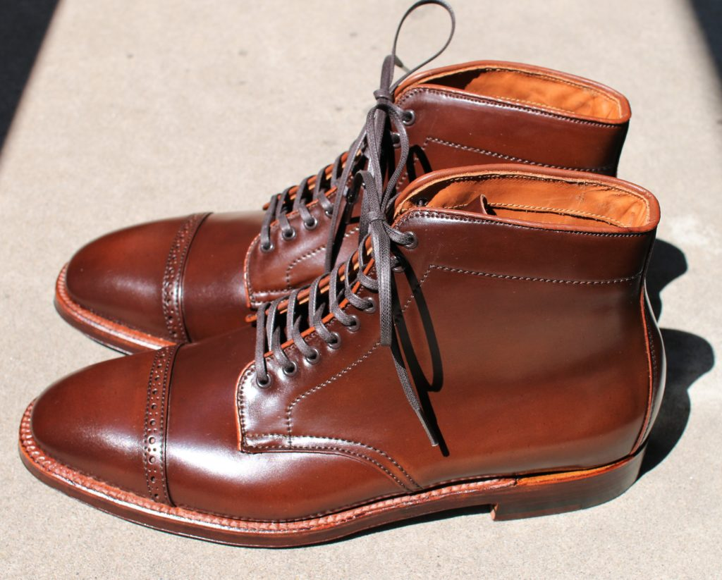 ALDEN Color4 Perforated Cap Toe Boots